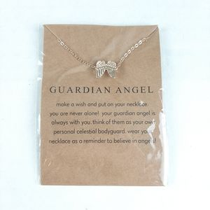 New Gold Guardian Angel Necklace